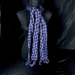 """🧣Checkered Fringed 65"""" Scarf"""
